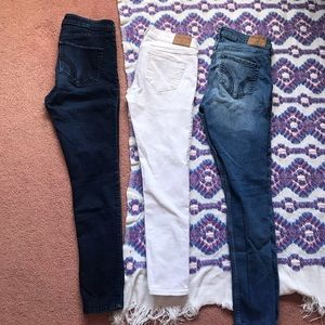 3 pairs of Hollister skinny  jeans